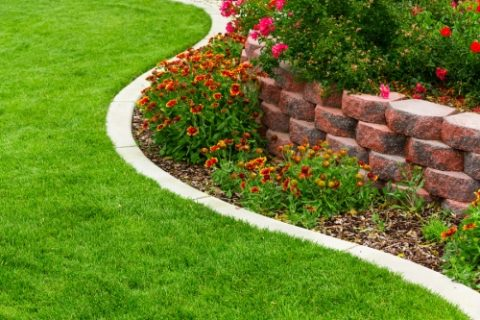 Landscape Edging from Brick, Stone, or Metal