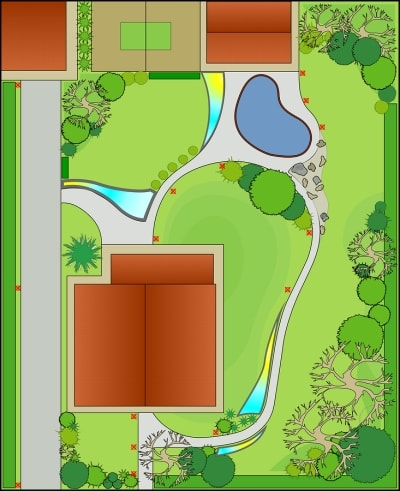 Top View of a Landscape Design in Westchester County, NY